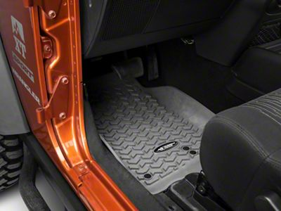 Rugged Ridge All Terrain Front, Rear & Cargo Floor Liners - Gray (11-18 Jeep Wrangler JK 2 Door)