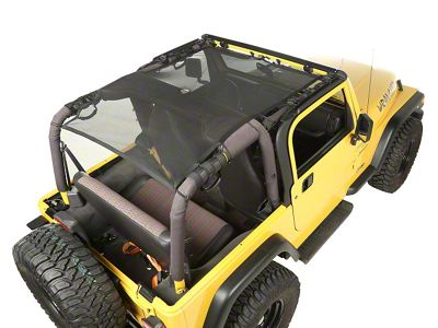 Rugged Ridge Full Cover Eclipse Sun Shade - Black (97-06 Jeep Wrangler TJ)