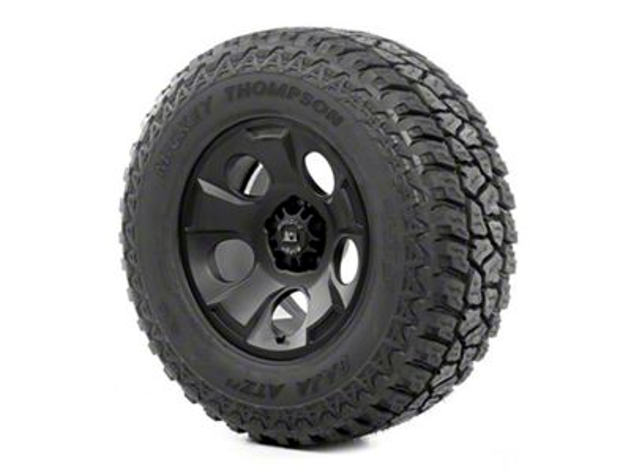Rugged Ridge Drakon Wheel 17x9 Black Satin and Mickey Thompson ATZ P3 315/70R17 Tire (07-18 Jeep Wrangler JK)