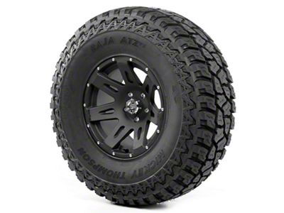 Rugged Ridge XHD Wheel 17x9 Black Satin and Mickey Thompson ATZ P3 37x12.50x17 Tire (07-18 Jeep Wrangler JK)