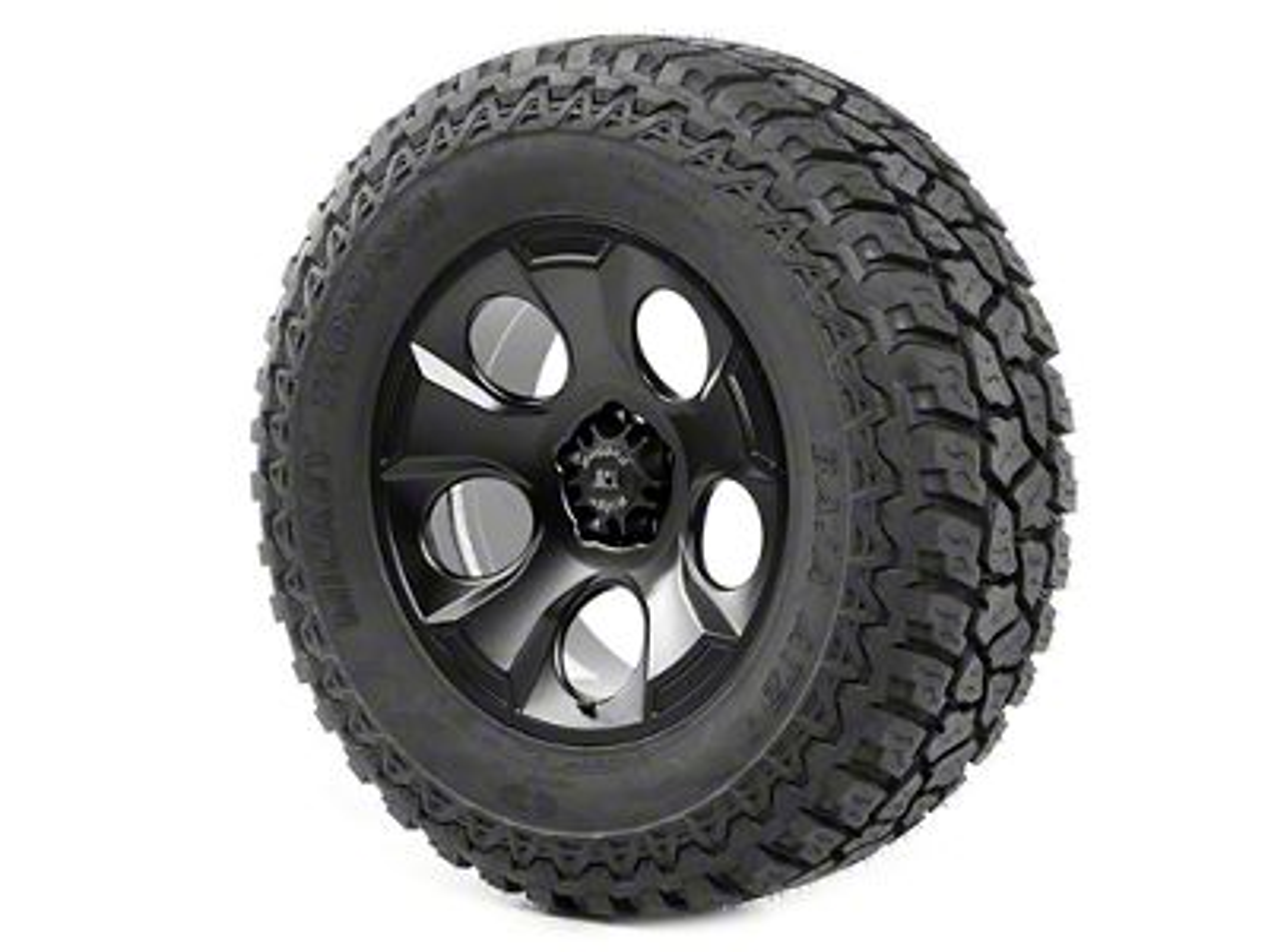 Rugged Ridge Drakon Wheel 20x9 Black Satin and Mickey Thompson ATZ P3 37x12.50x20 Tire (07-18 Jeep Wrangler JK)