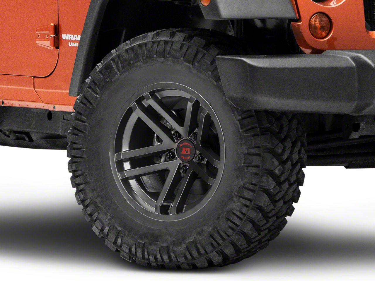 Rugged Ridge Jesse Spade Satin Gun Metal Gray Wheel - 17x9 (07-18 Jeep Wrangler JK; 2018 Jeep Wrangler JL)