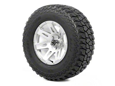 Rugged Ridge XHD Wheel 17x9 Silver and Mickey Thompson ATZ P3 305/65R17 Tire (07-18 Jeep Wrangler JK)