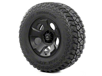 Rugged Ridge Drakon Wheel 17x9 Black Satin and Mickey Thompson ATZ P3 305/65R17 Tire (07-18 Jeep Wrangler JK)