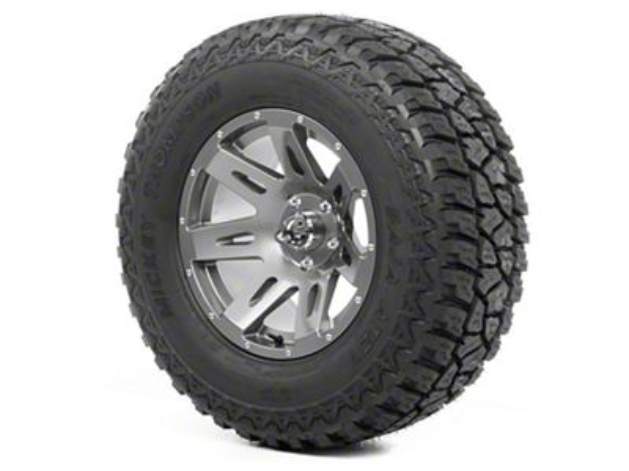 Rugged Ridge XHD Wheel 17x9 Gun Metal and Mickey Thompson ATZ P3 315/70R17 Tire (07-18 Jeep Wrangler JK)