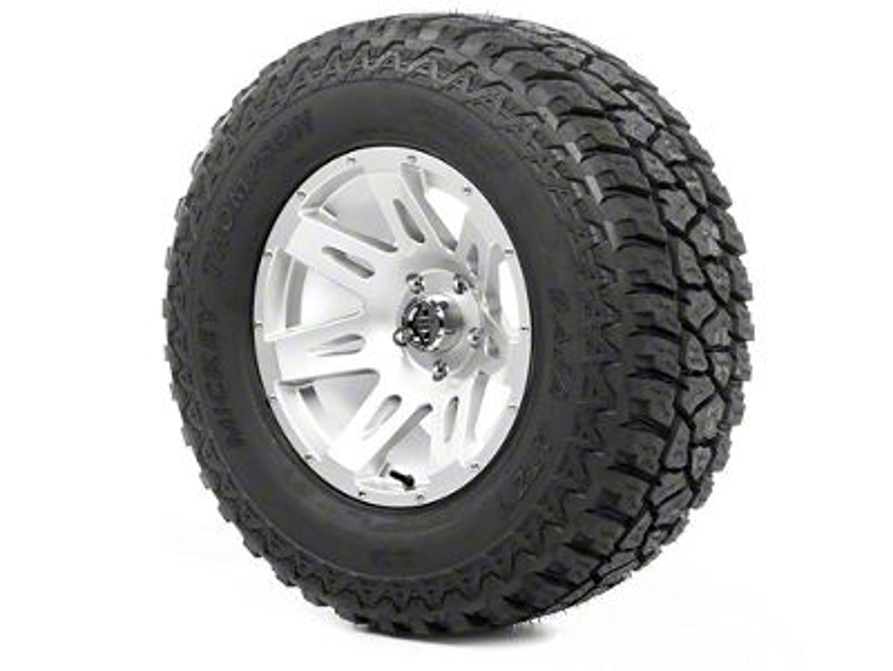 Rugged Ridge XHD Wheel 17x9 Silver and Mickey Thompson ATZ P3 315/70R17 Tire (07-18 Jeep Wrangler JK)