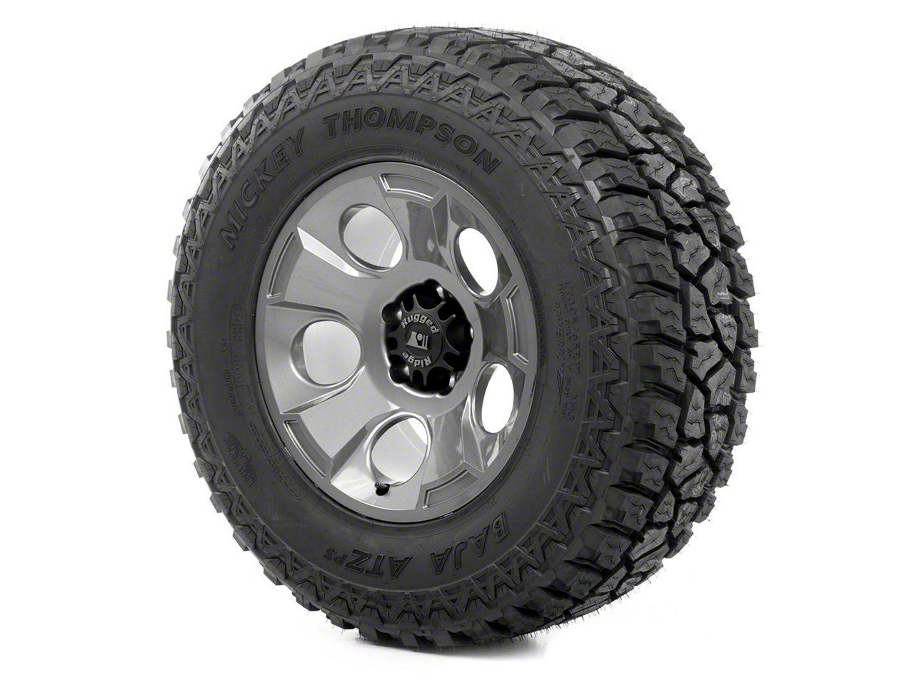 Rugged Ridge Drakon Wheel 17x9 Gun Metal and Mickey Thompson ATZ P3 315/70R17 Tire (07-18 Jeep Wrangler JK)