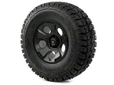 Rugged Ridge Drakon Wheel 17x9 Black Satin and Mickey Thompson ATZ P3 35x12.50x17 Tire (07-18 Jeep Wrangler JK)