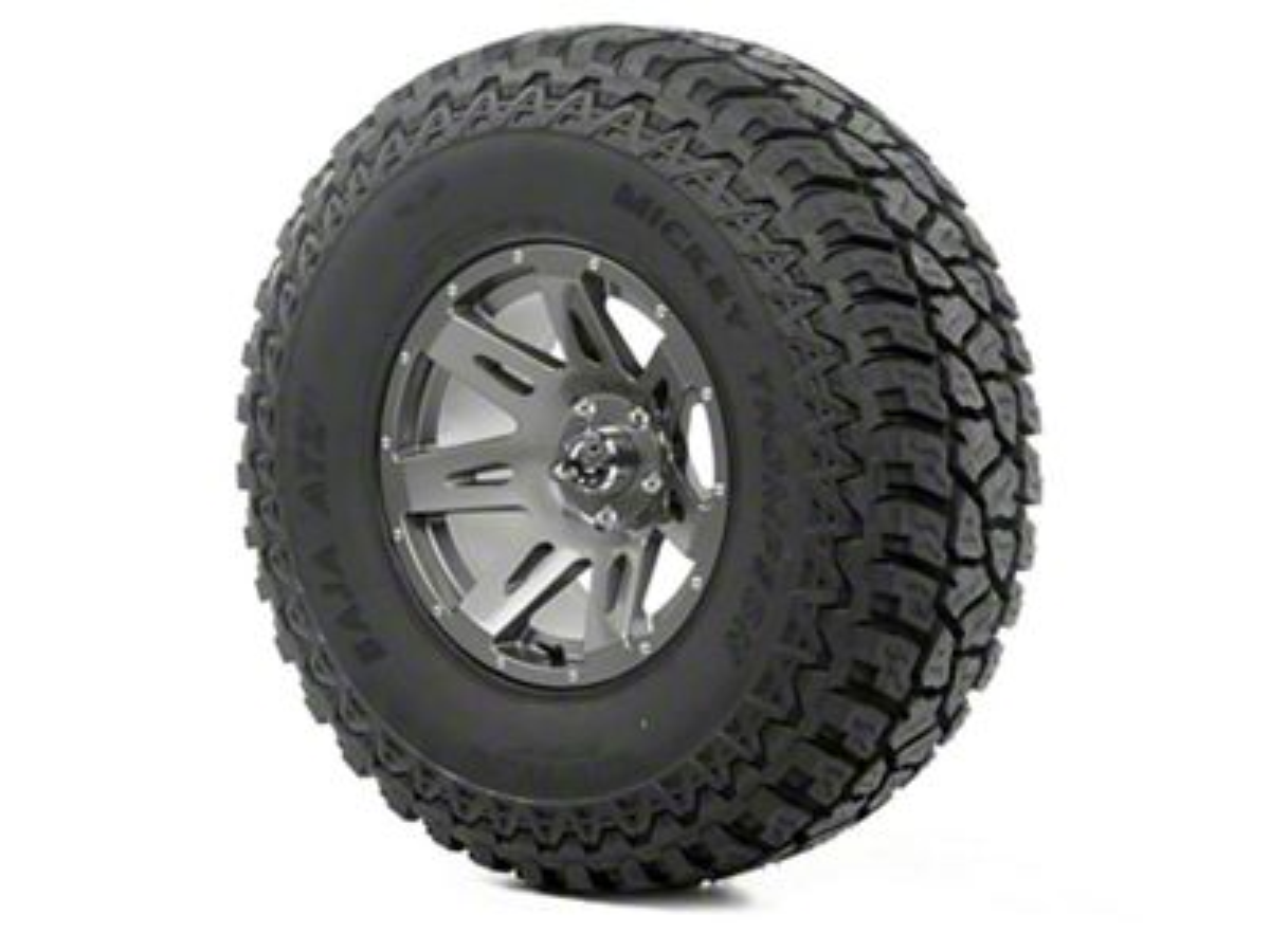 Rugged Ridge XHD Wheel 17x9 Gun Metal and Mickey Thompson ATZ P3 37x12.50x17 Tire (07-18 Jeep Wrangler JK)