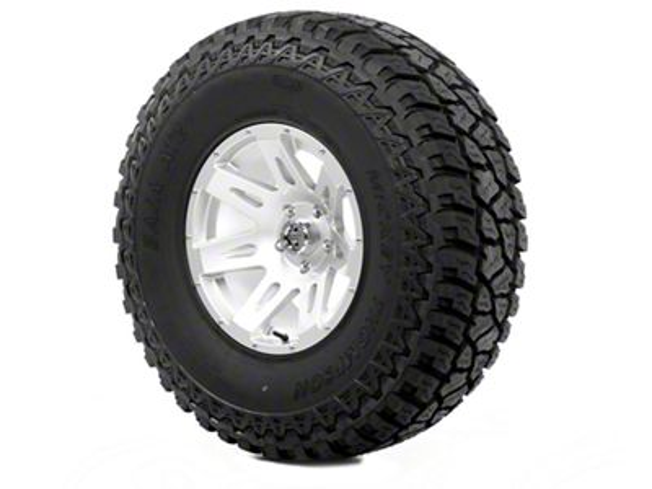 Rugged Ridge XHD Wheel 17x9 Silver and Mickey Thompson ATZ P3 37x12.50x17 Tire (13-18 Jeep Wrangler JK; 2018 Jeep Wrangler JL)