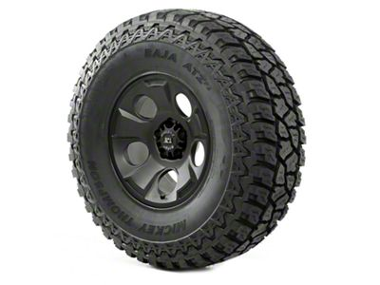 Rugged Ridge Drakon Wheel 17x9 Black Satin and Mickey Thompson ATZ P3 37x12.50x17 Tire (07-18 Jeep Wrangler JK)