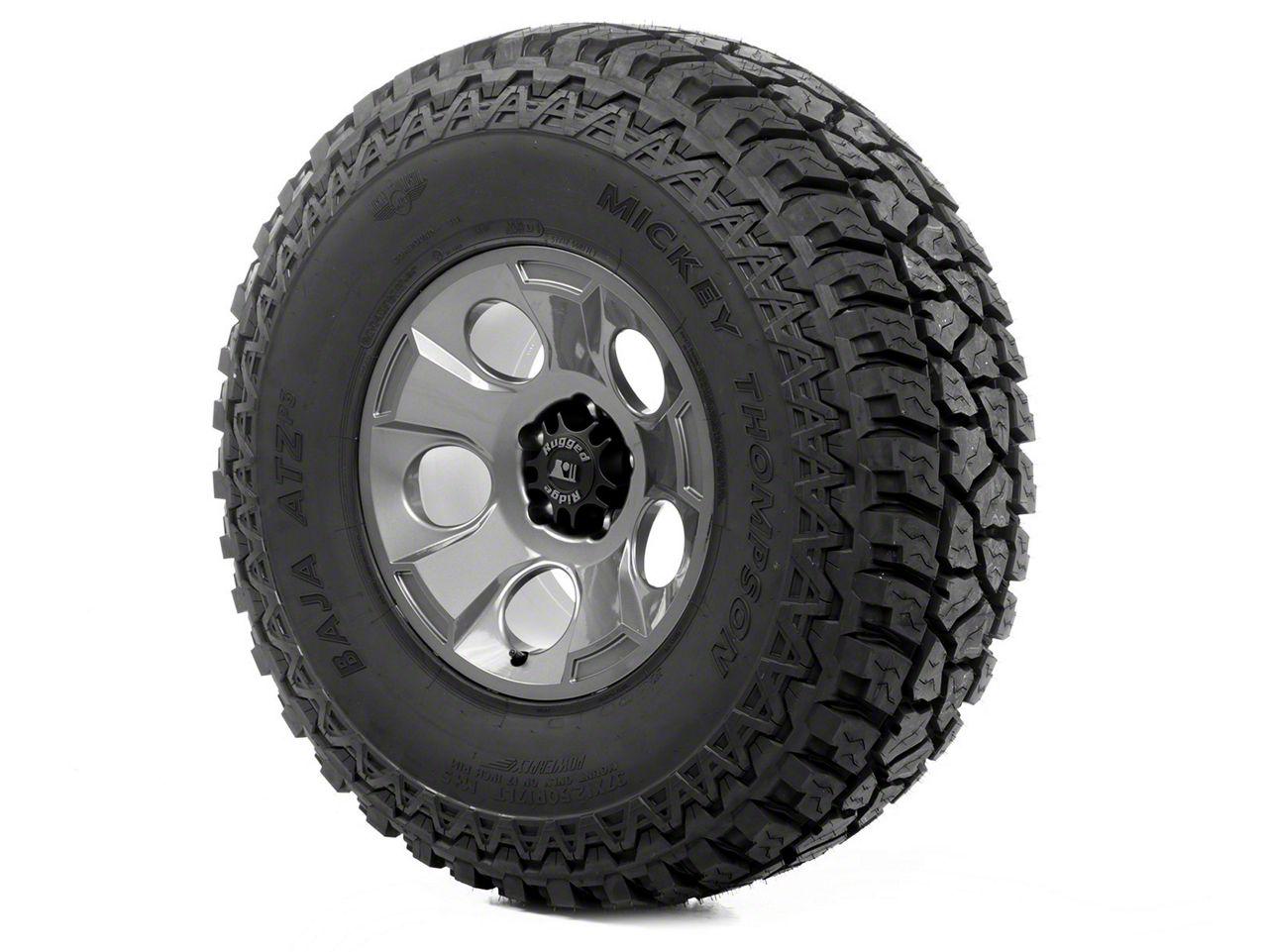 Rugged Ridge Drakon Wheel 17x9 Gun Metal and Mickey Thompson ATZ P3 37x12.50x17 Tire (13-18 Jeep Wrangler JK; 2018 Jeep Wrangler JL)