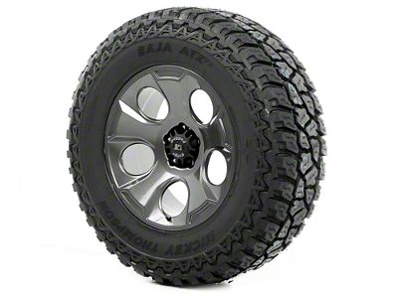 Rugged Ridge Drakon Wheel 20x9 Gun Metal and Mickey Thompson ATZ P3 37x12.50x20 Tire (13-18 Jeep Wrangler JK; 2018 Jeep Wrangler JL)