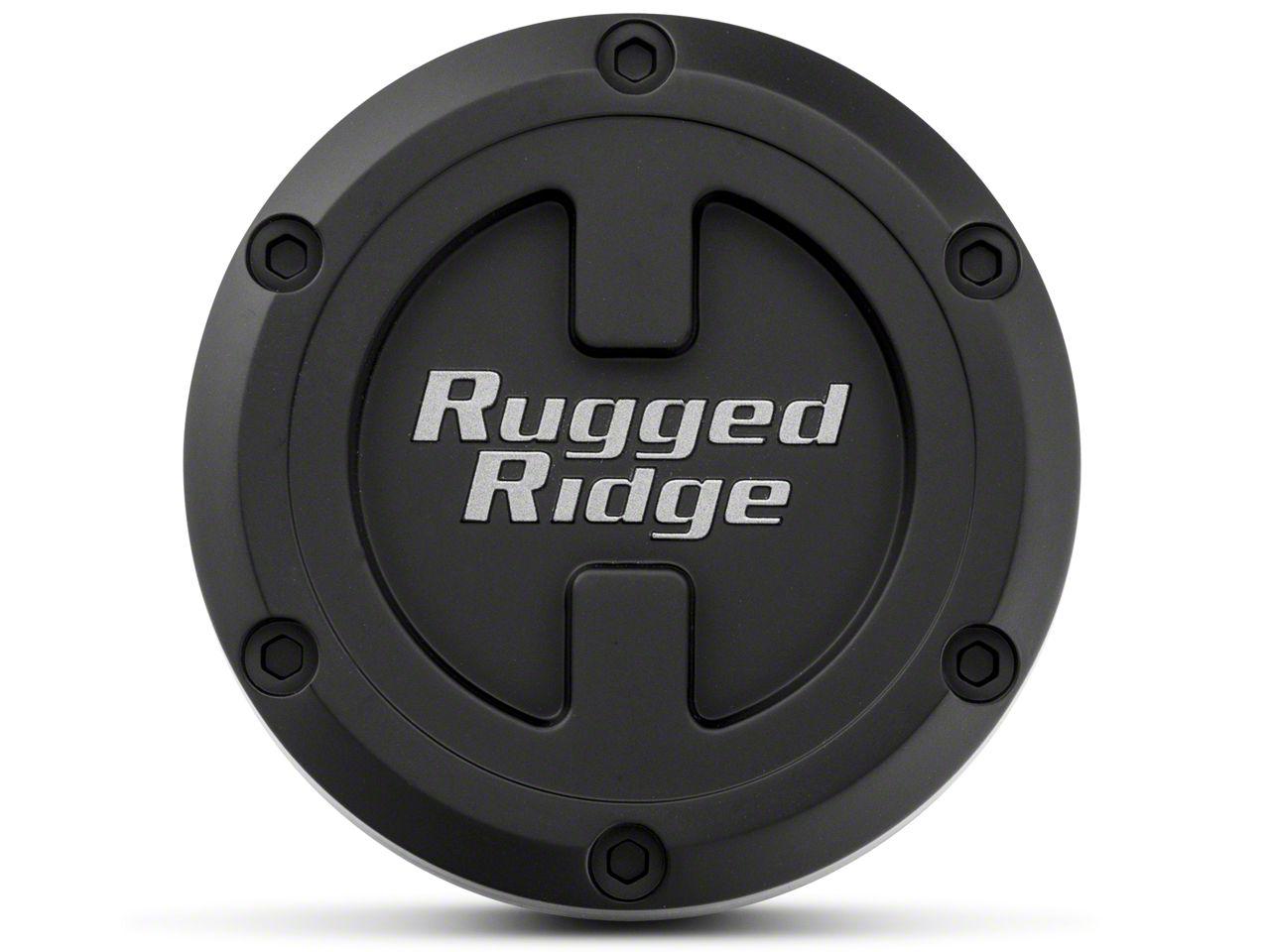 Rugged Ridge 17x9 XHD Wheel Center Cap - Black (07-18 Jeep Wrangler JK; 2018 Jeep Wrangler JL)