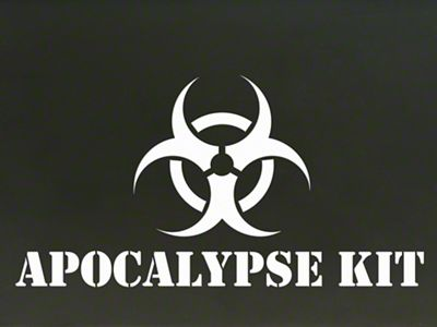 Apocalypse Kit Decal - White (87-19 Jeep Wrangler YJ, TJ, JK & JL)