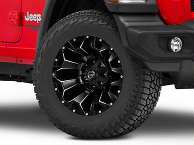 Fuel Wheels Assault Black Machined Wheel - 18x9 (18-19 Jeep Wrangler JL)