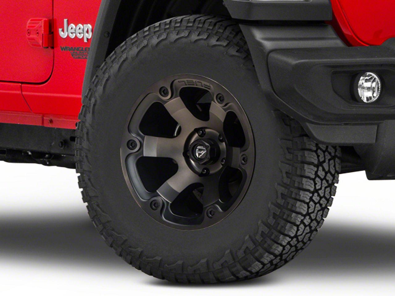 Fuel Wheels Beast Black Machined Wheel - 17x9 (18-19 Jeep Wrangler JL)