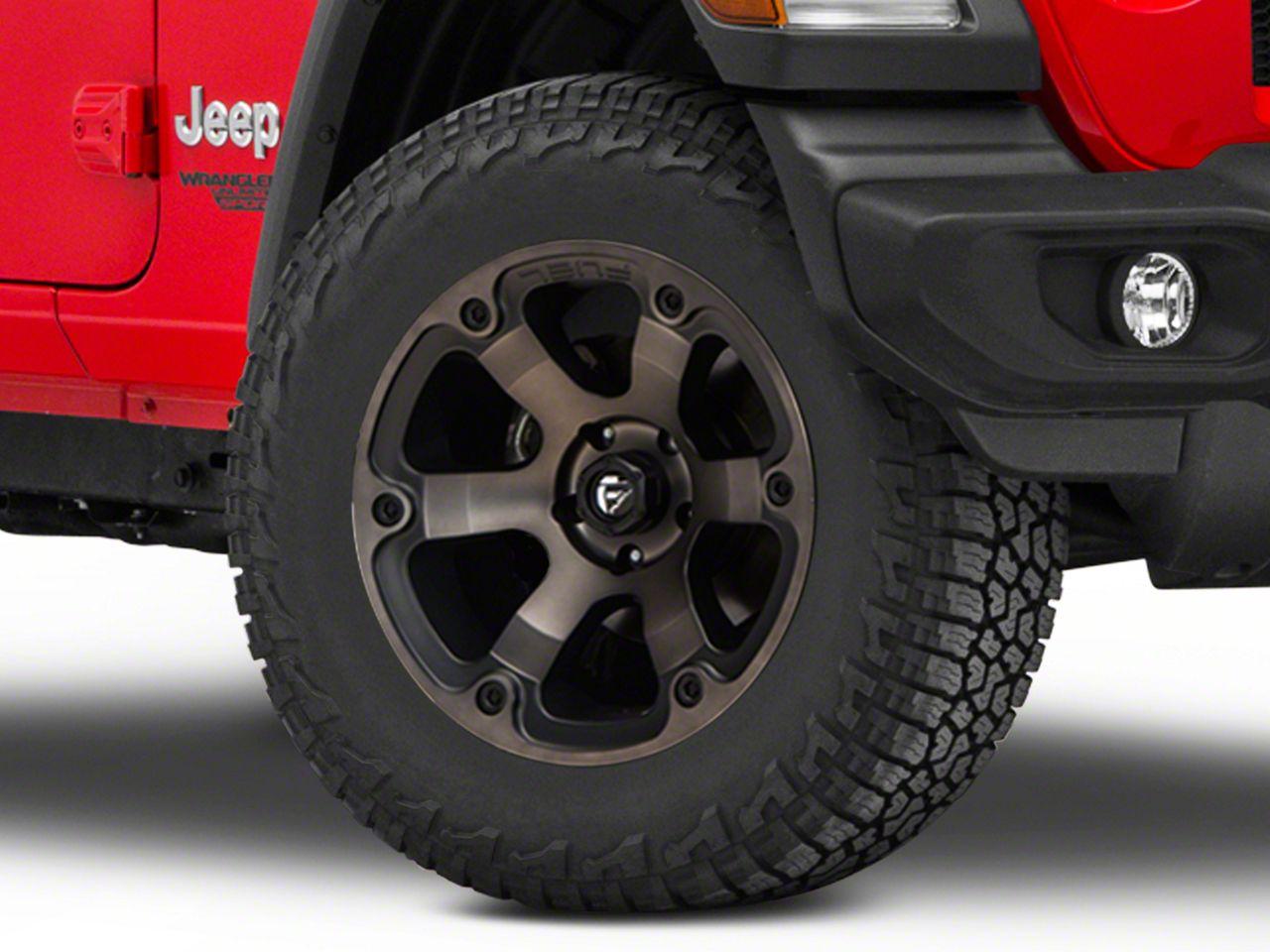 Fuel Wheels Beast Black Machined Wheel - 18x9 (18-19 Jeep Wrangler JL)