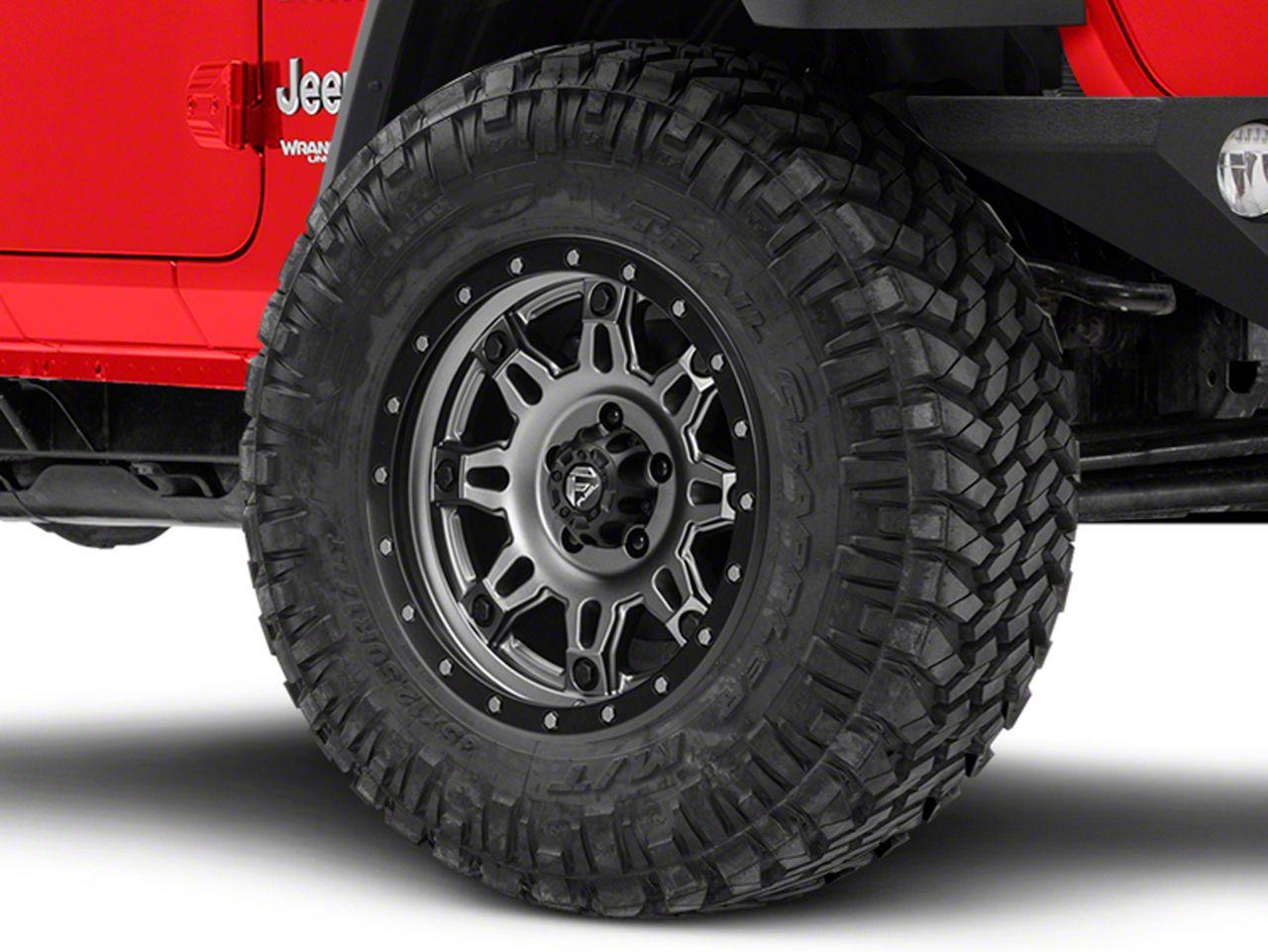Fuel Wheels Hostage III Gunmetal & Black Wheel - 18x9 (18-19 Jeep Wrangler JL)