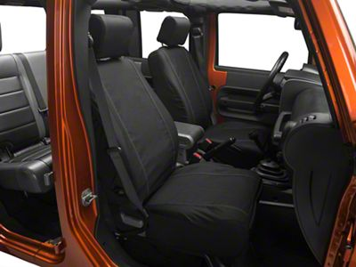 Barricade Custom Trailproof Front Seat Covers w/ Pockets - Black (07-18 Jeep Wrangler JK)