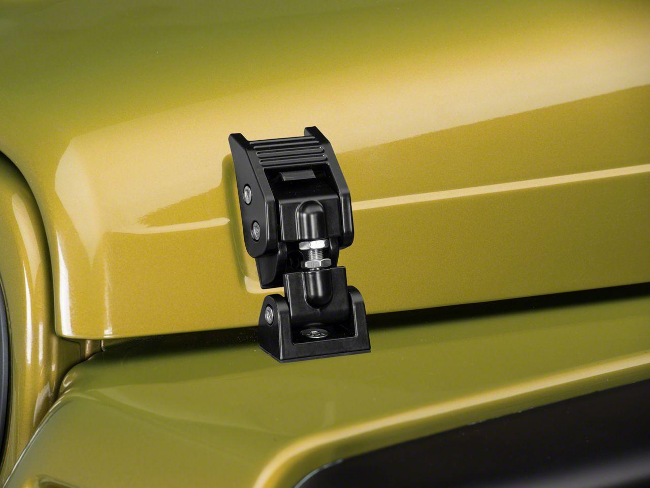 Rugged Ridge Hood Catches - Black Aluminum (97-06 Jeep Wrangler TJ)