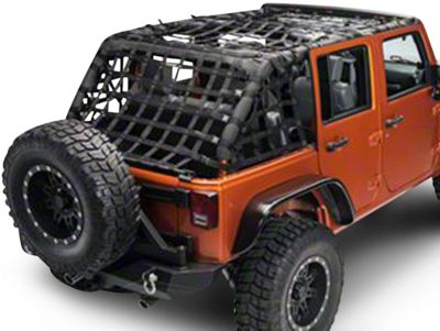Dirty Dog 4x4 Full Netting Kit - Black (07-18 Jeep Wrangler JK 4 Door)