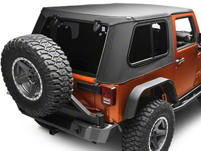 Bestop Trektop Pro Hybrid Soft Top - Black Twill (07-18 Jeep Wrangler JK 2 Door)
