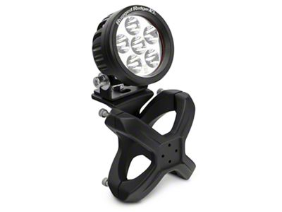 Rugged Ridge Textured Black X-Clamp for 2.25-3 in. Tubing & 3.5 in. Round LED Light Kit
