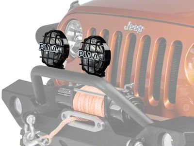 PIAA 520 Series 6 in. Round ATP Xtreme White Halogen Lights - Spot Beam - Pair (87-18 Jeep Wrangler YJ, TJ, JK & JL)