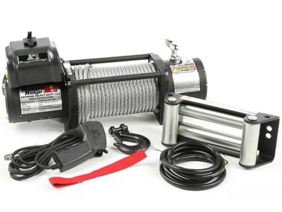 Rugged Ridge Spartacus Heavy Duty 12,500 lb. Winch w/ Steel Cable (87-19 Jeep Wrangler YJ, TJ, JK & JL)