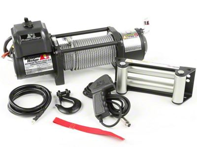 Rugged Ridge Spartacus Heavy Duty 8,500 lb. Winch w/ Steel Cable (87-19 Jeep Wrangler YJ, TJ, JK & JL)