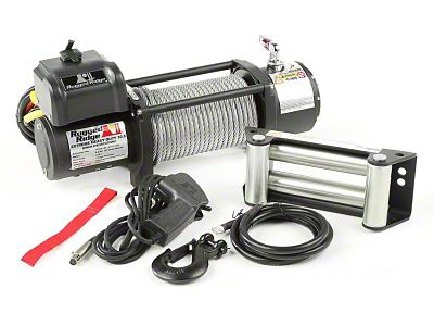 Rugged Ridge Spartacus Heavy Duty 10,500 lb. Winch w/ Steel Cable (87-19 Jeep Wrangler YJ, TJ, JK & JL)