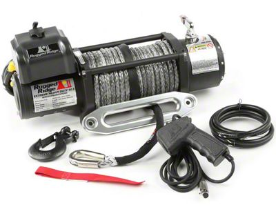 Rugged Ridge Spartacus Performance 10,500 lb. Winch w/ Synthetic Rope (87-19 Jeep Wrangler YJ, TJ, JK & JL)