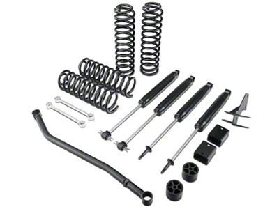 Zone Offroad 4 in. Lift Kit w/ Nitro Shocks (07-18 Jeep Wrangler JK 2 Door)