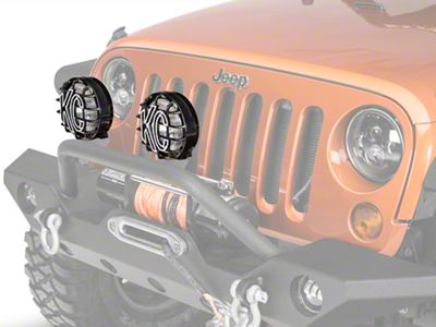 KC HiLiTES 6 in. Slimlite Halogen Replacement Fog Light (05-06 Jeep Wrangler TJ)