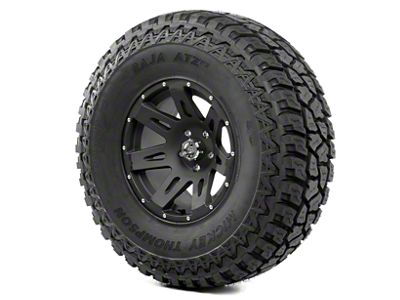 Rugged Ridge XHD Wheel 17x9 Black Satin and Mickey Thompson ATZ P3 37x12.50x17 Tire Kit (07-12 Jeep Wrangler JK)