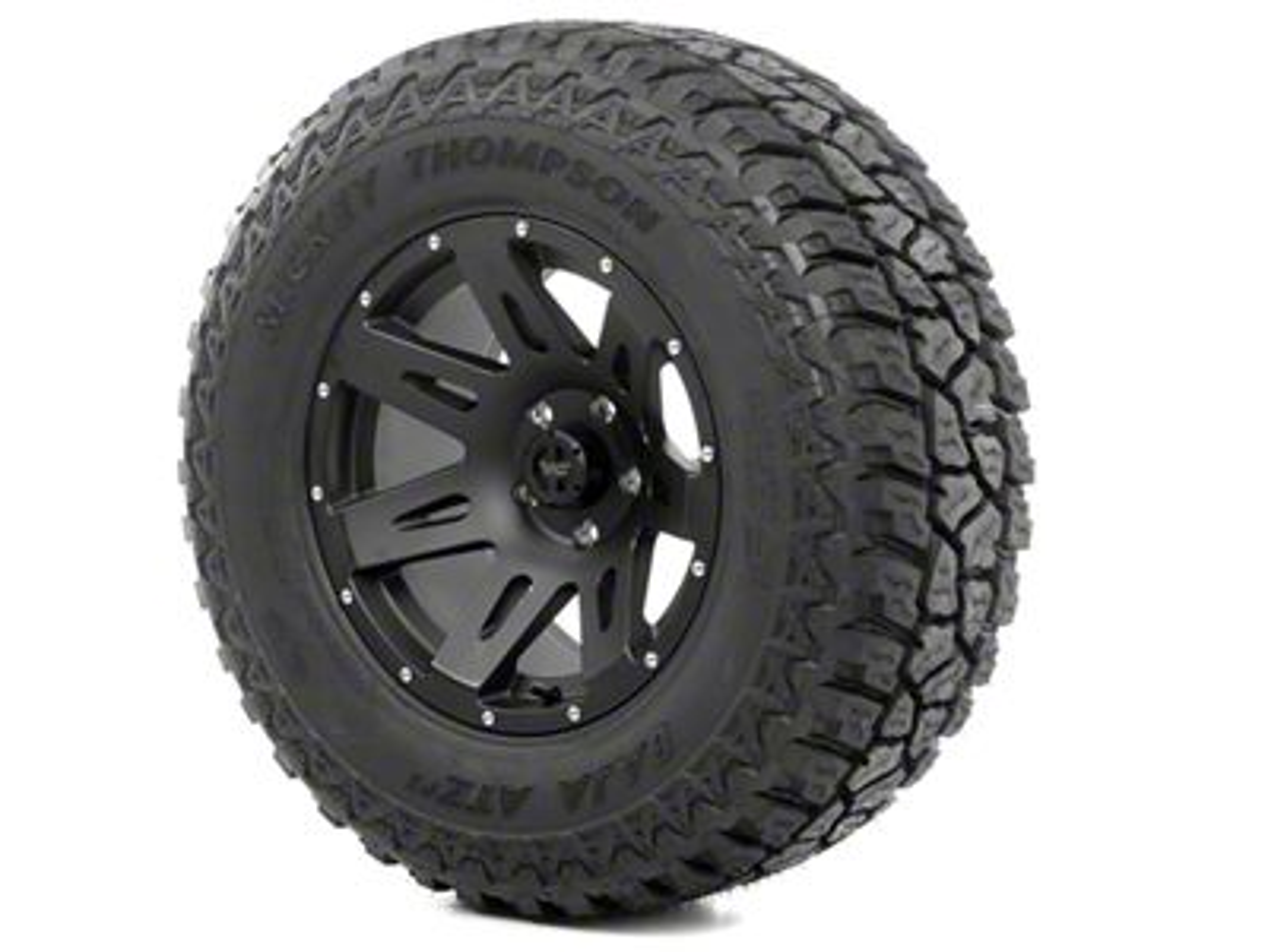 Rugged Ridge XHD Wheel 17x9 Black Satin and Mickey Thompson ATZ P3 315/70R17 Tire Kit (07-18 Jeep Wrangler JK)