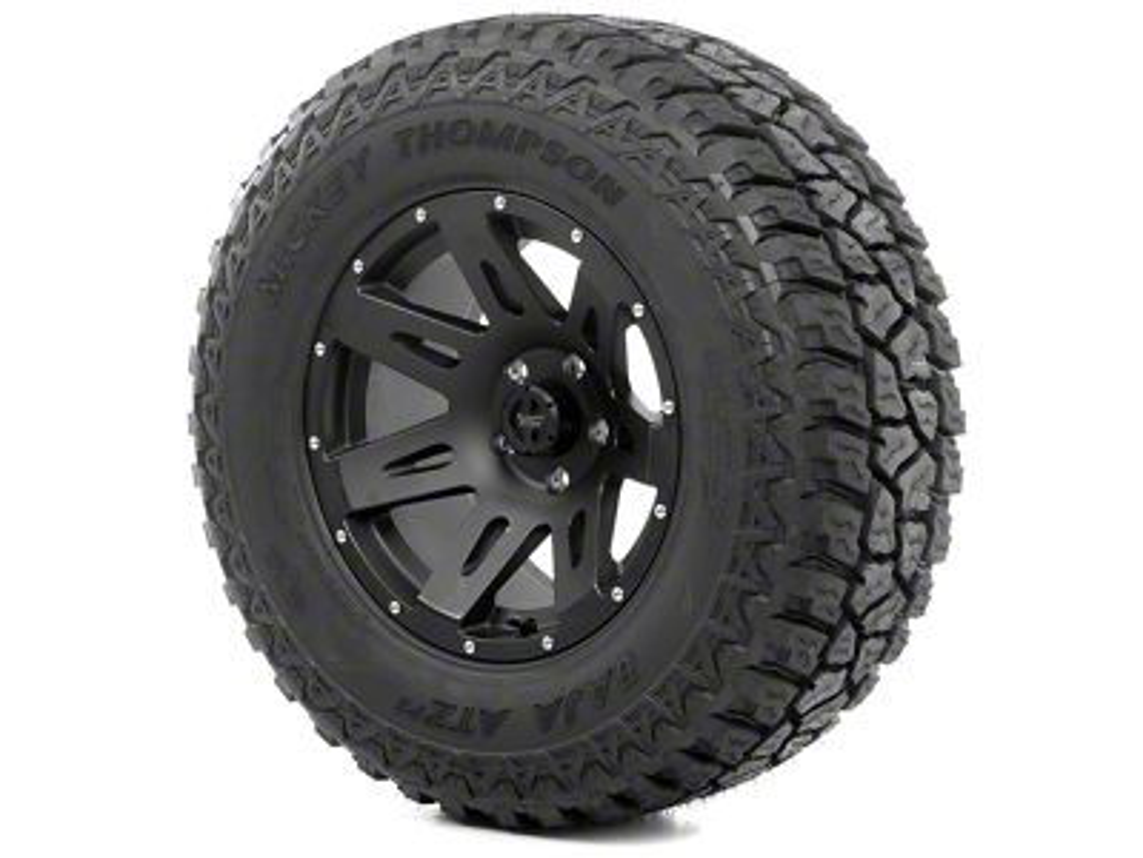Rugged Ridge XHD Wheel 18x9 Black Satin and Mickey Thompson ATZ P3 305/60R18 Wheel - Tire Kit (13-18 Jeep Wrangler JK; 2018 Jeep Wrangler JL)