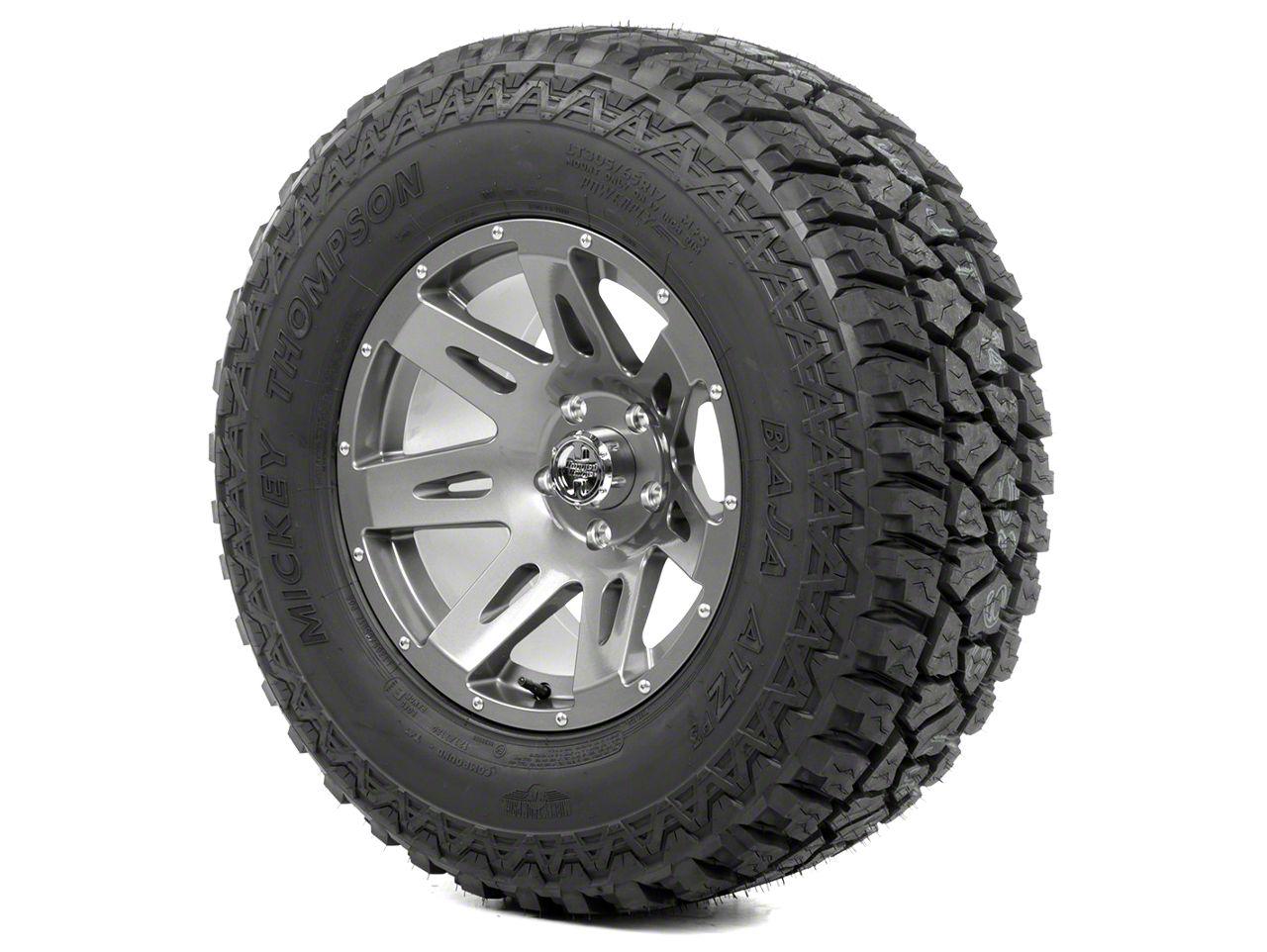 Rugged Ridge XHD Wheel 17x9 Gun Metal and Mickey Thompson ATZ P3 305/65R17 Tire Kit (13-18 Jeep Wrangler JK; 2018 Jeep Wrangler JL)