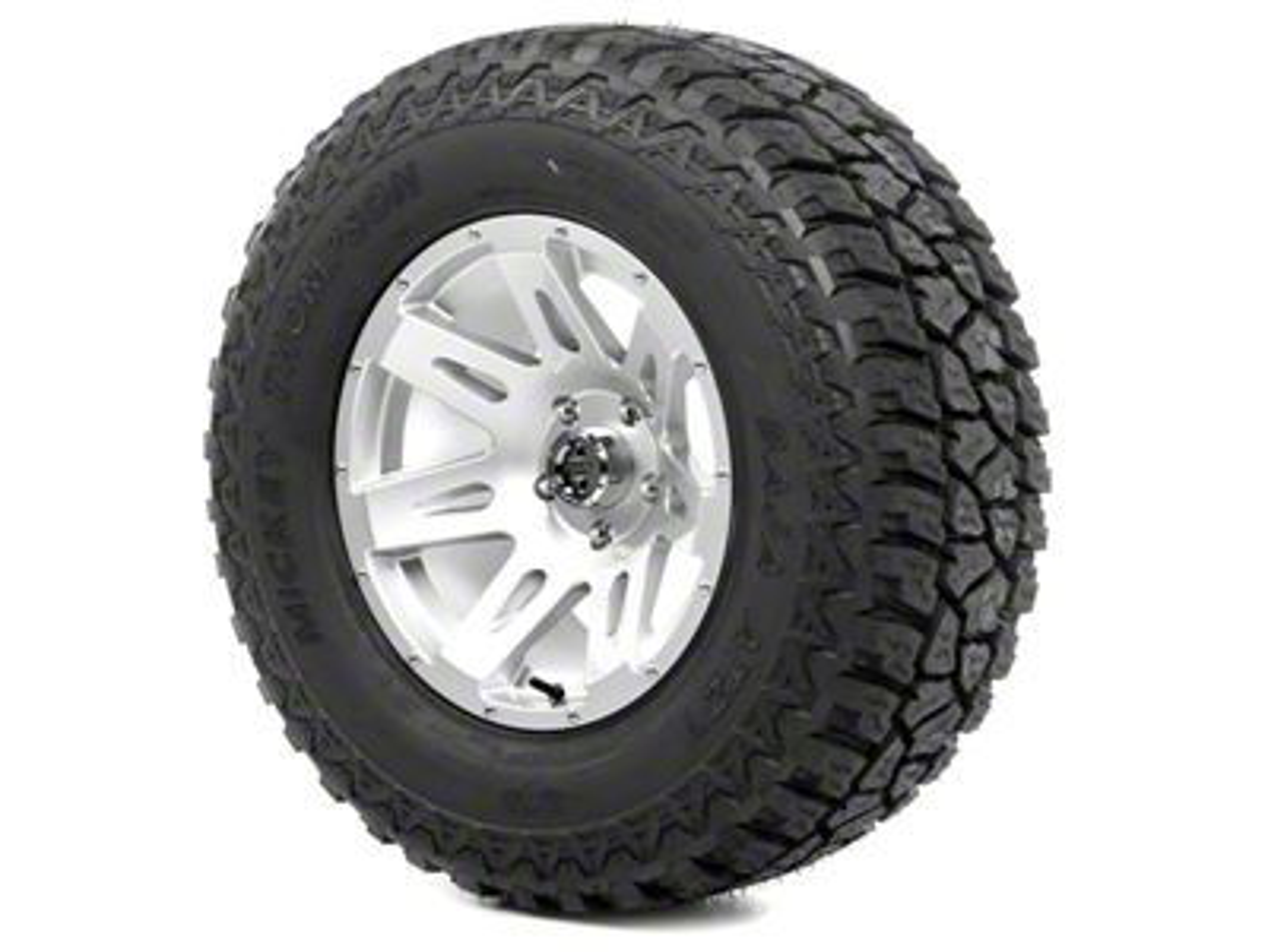 Rugged Ridge XHD Wheel 17x9 Silver and Mickey Thompson ATZ P3 305/65R17 Tire Kit (13-18 Jeep Wrangler JK; 2018 Jeep Wrangler JL)