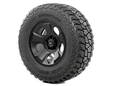 Rugged Ridge Drakon Wheel 17x9 Black Satin and Mickey Thompson ATZ P3 305/65R17 Tire Kit (07-18 Jeep Wrangler JK)