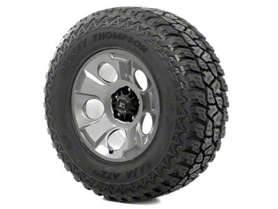Rugged Ridge Drakon Wheel 17x9 Gun Metal and Mickey Thompson ATZ P3 305/65R17 Tire Kit (07-18 Jeep Wrangler JK)