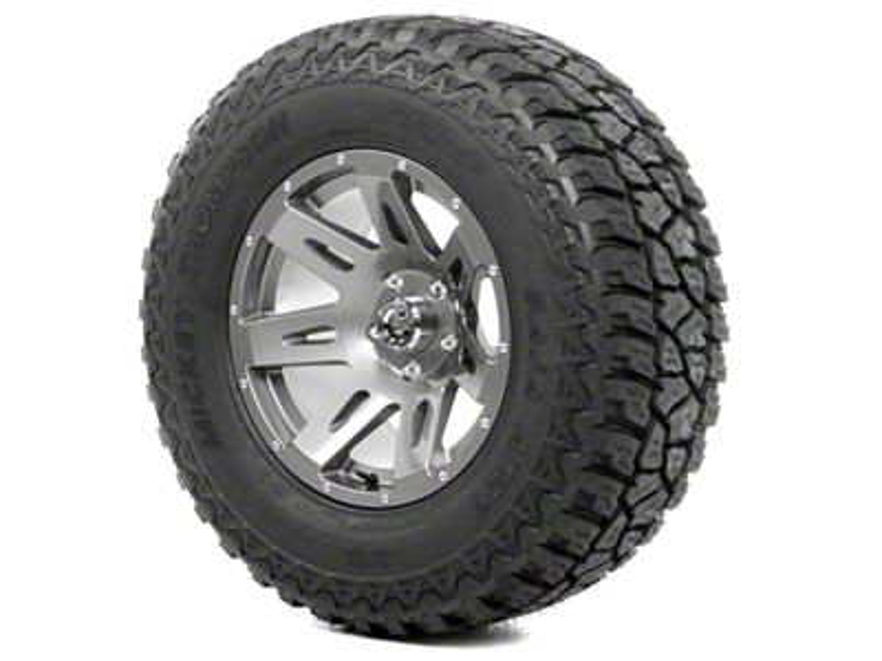Rugged Ridge XHD Wheel 17x9 Gun Metal and Mickey Thompson ATZ P3 315/70R17 Tire Kit (13-18 Jeep Wrangler JK; 2018 Jeep Wrangler JL)