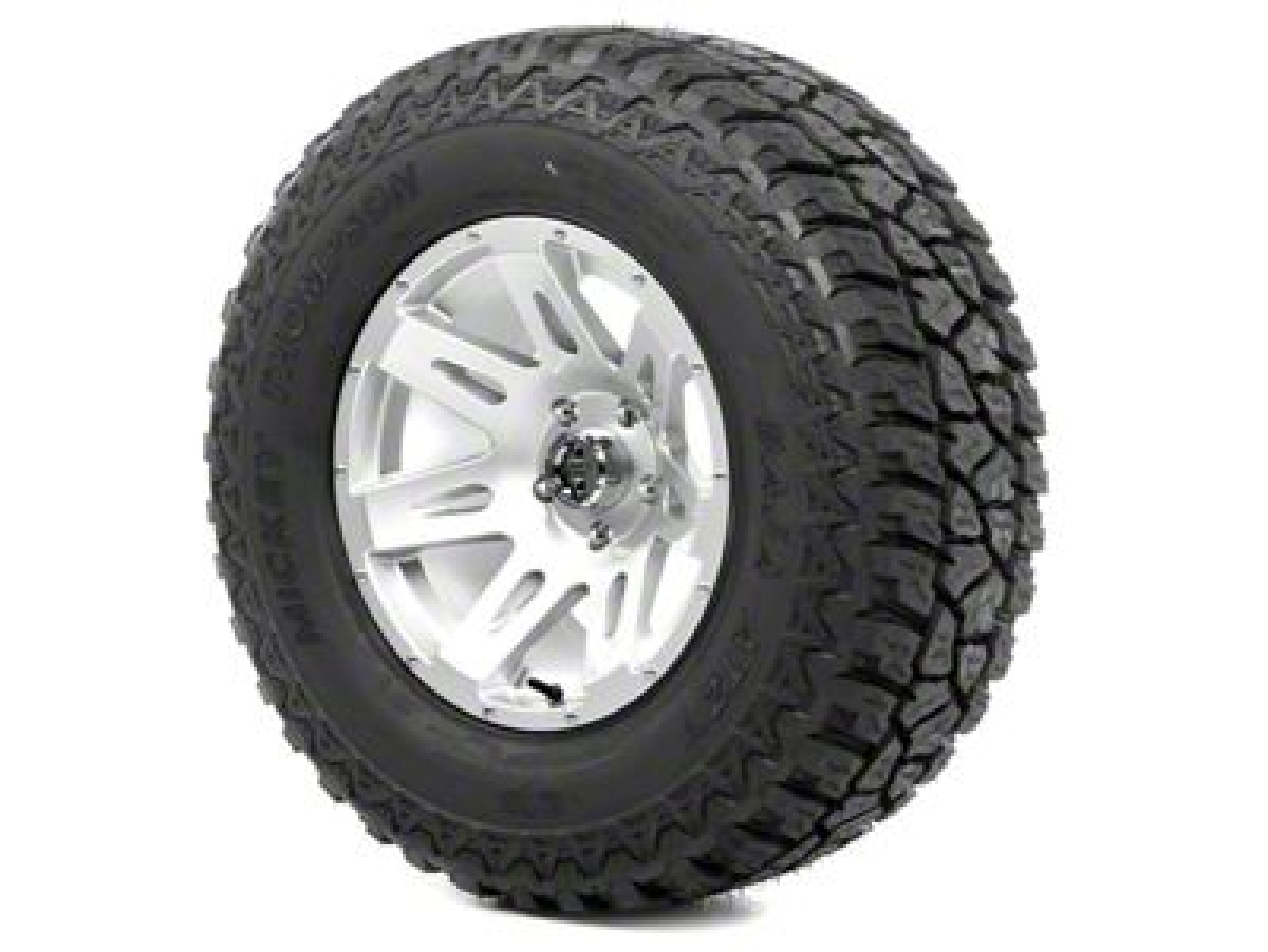 Rugged Ridge XHD Wheel 17x9 Silver and Mickey Thompson ATZ P3 315/70R17 Tire Kit (13-18 Jeep Wrangler JK; 2018 Jeep Wrangler JL)