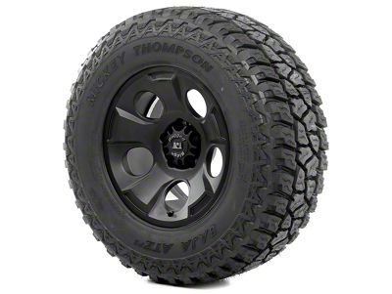 Rugged Ridge Drakon Wheel 17x9 Black Satin and Mickey Thompson ATZ P3 315/70R17 Tire Kit (07-18 Jeep Wrangler JK)