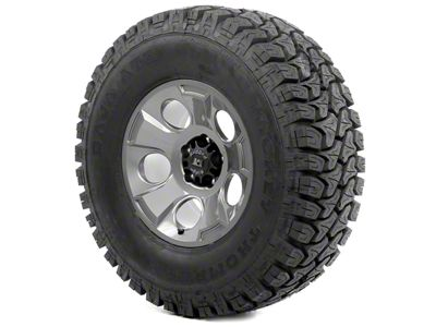 Rugged Ridge Drakon Wheel 17x9 Gun Metal and Mickey Thompson ATZ P3 35x12.50x17 Tire Kit (07-18 Jeep Wrangler JK)