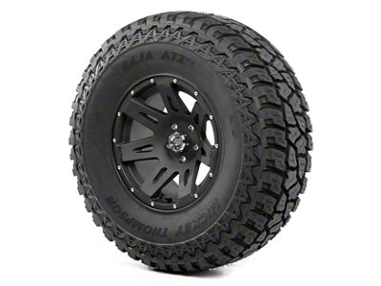 Rugged Ridge XHD Wheel 17x9 Black Satin and Mickey Thompson ATZ P3 37x12.50x17 Tire Kit (13-18 Jeep Wrangler JK; 2018 Jeep Wrangler JL)