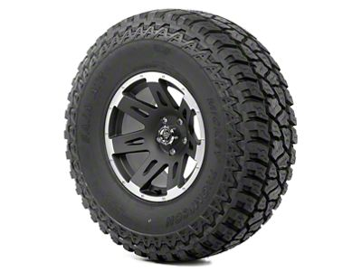 Rugged Ridge XHD Wheel 17x9 Black Satin w/Machined Lip and Mickey Thompson ATZ P3 37x12.50x17 Tire Kit (07-18 Jeep Wrangler JK)