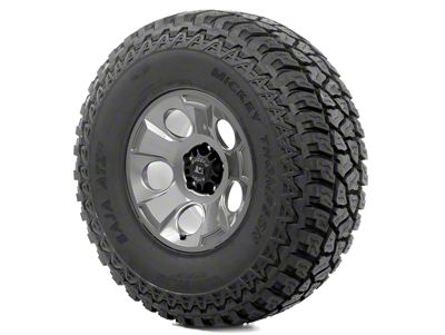 Rugged Ridge Drakon Wheel 17x9 Gun Metal and Mickey Thompson ATZ P3 37x12.50x17 Tire Kit (07-18 Jeep Wrangler JK)