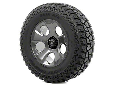 Rugged Ridge Drakon Wheel 20x9 Gun Metal and Mickey Thompson ATZ P3 37x12.50x20 Tire Kit (07-18 Jeep Wrangler JK)